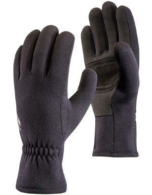 Black Diamond Men's Midweight Screentap Glove Liner in Black