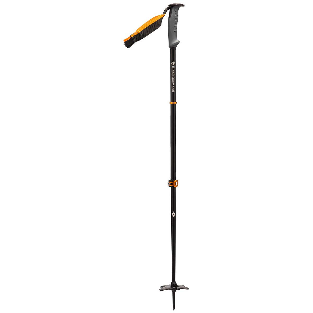 Black Diamond Traverse WR 2 Ski Pole in Grey and Black and Orange main view