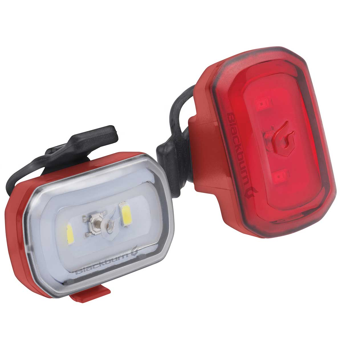 Blackburn Click USB Front + Rear Set in Red