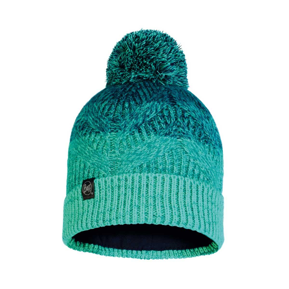 Buff Masha Knit Hat in Turquoise