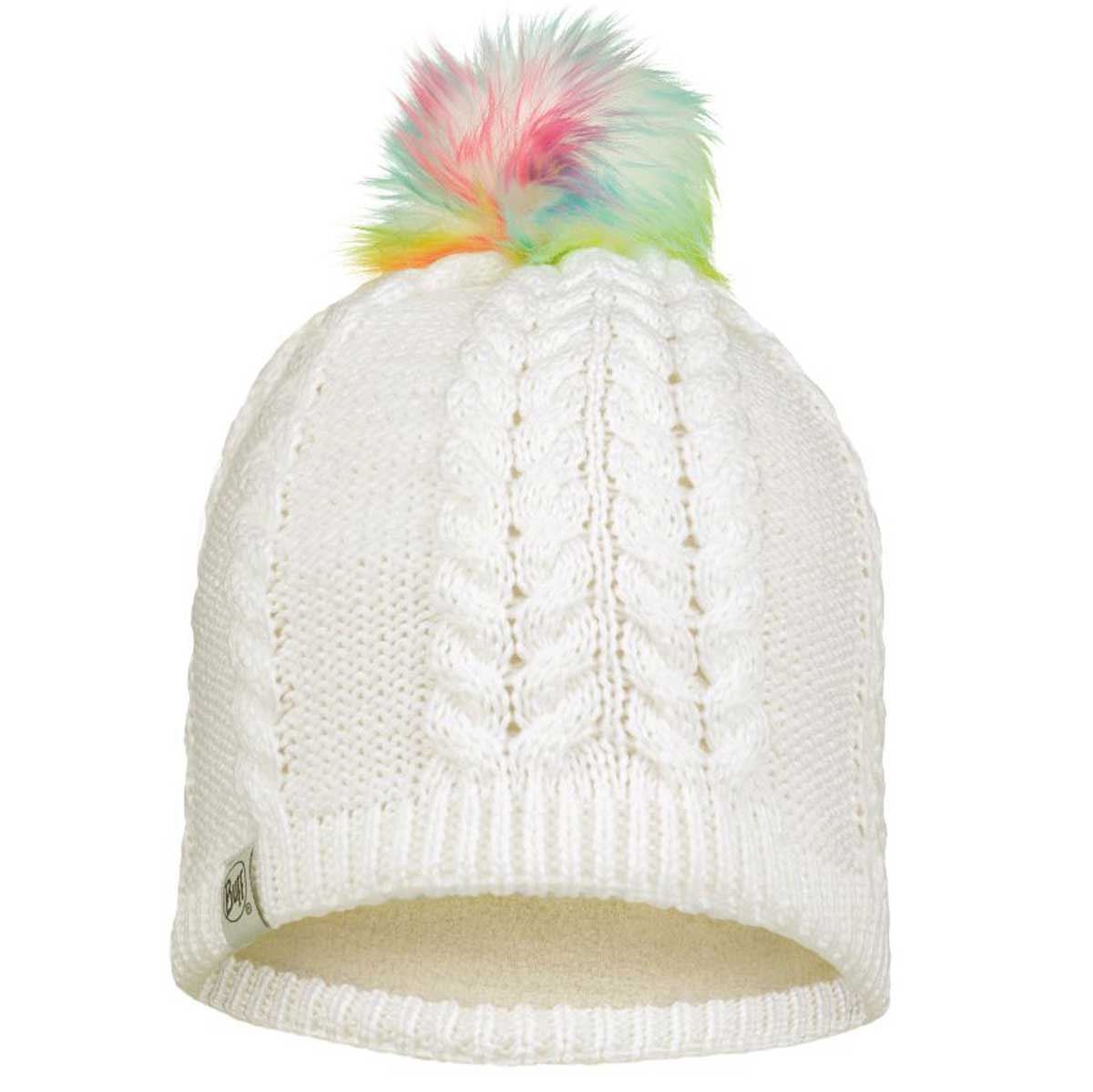 Buff Kids' Nina Knitted Hat in White