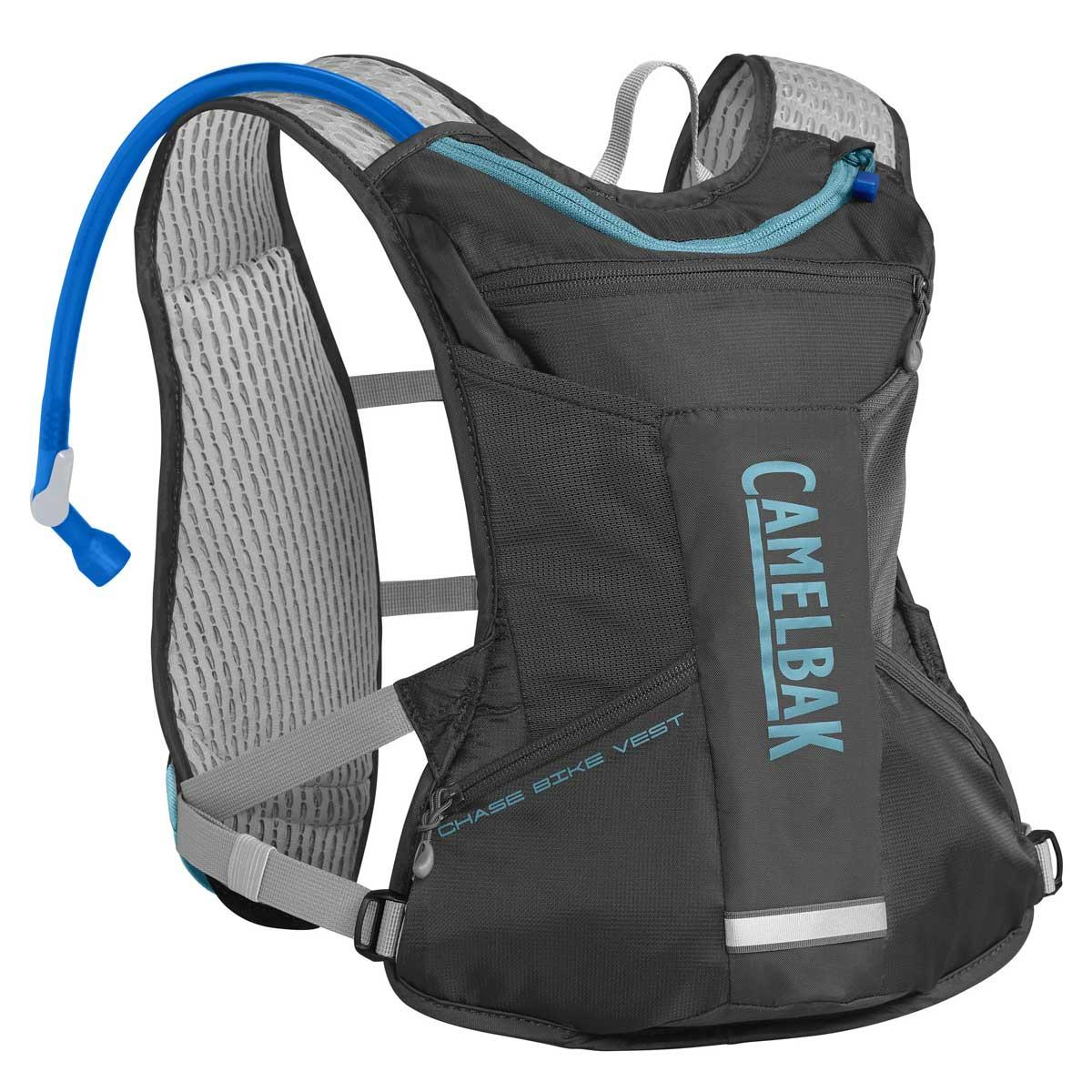 CamelBak Chase Women's Bike Vest in Charcoal and Lake Blue