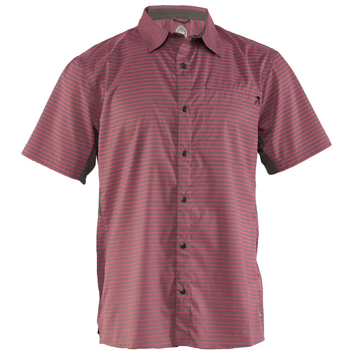 Club Ride men's Vibe Jersey in Merlot Stripe