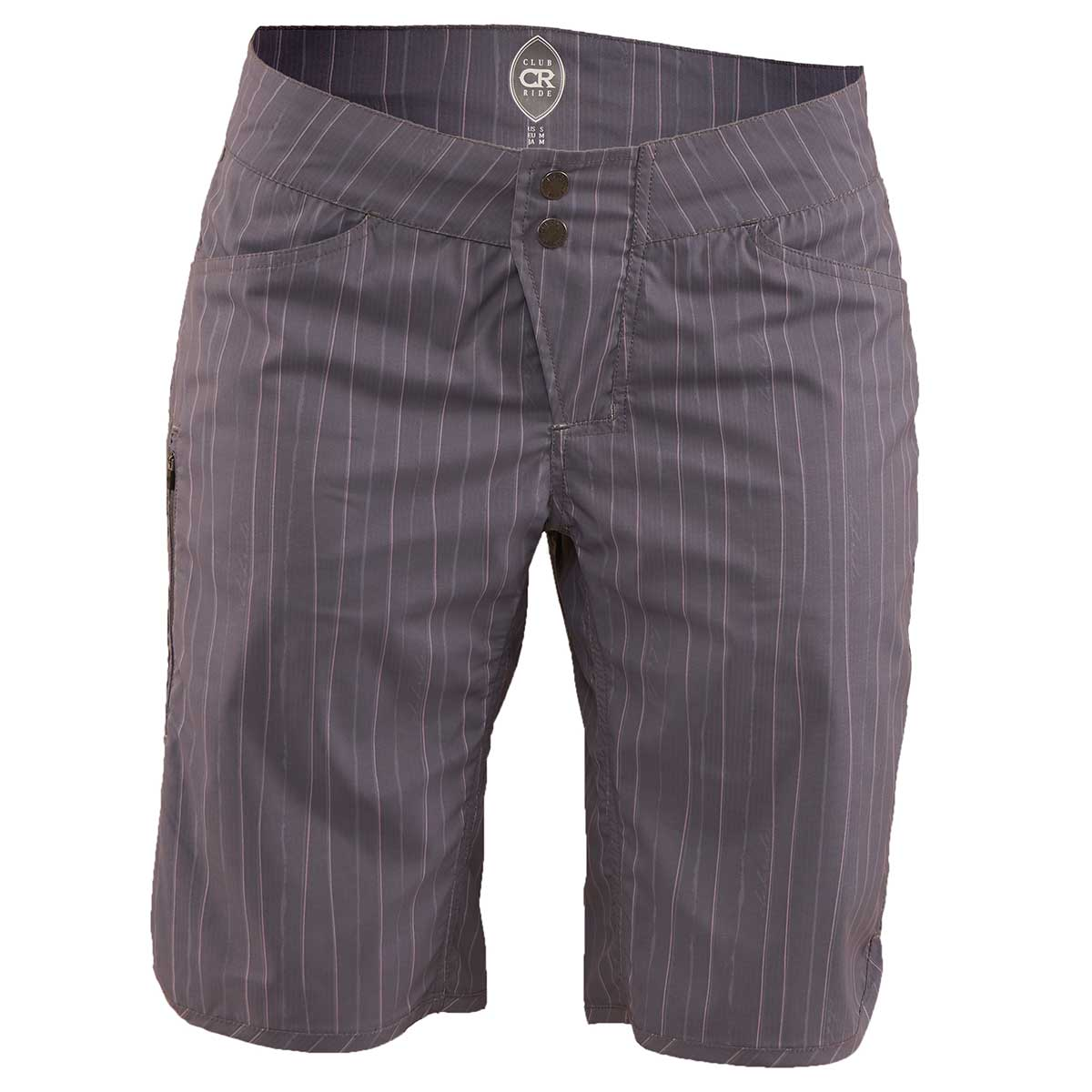 Club Ride women's Savvy Short in Artisan Grey Pinstripe