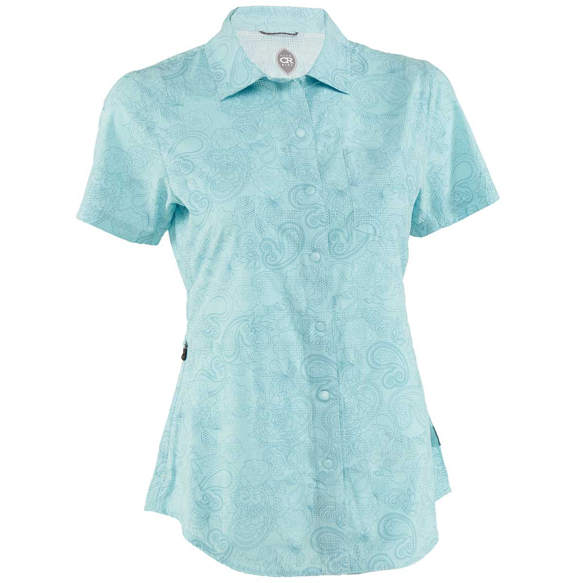 Club Ride women's Camas Cactus Print Jersey in Angel Blue