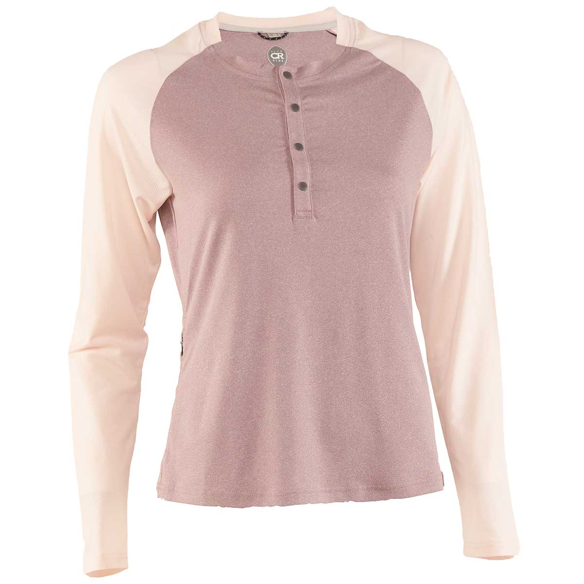 Club Ride women's Ida Long Sleeve Jersey in Elderberry and Dusty Pink