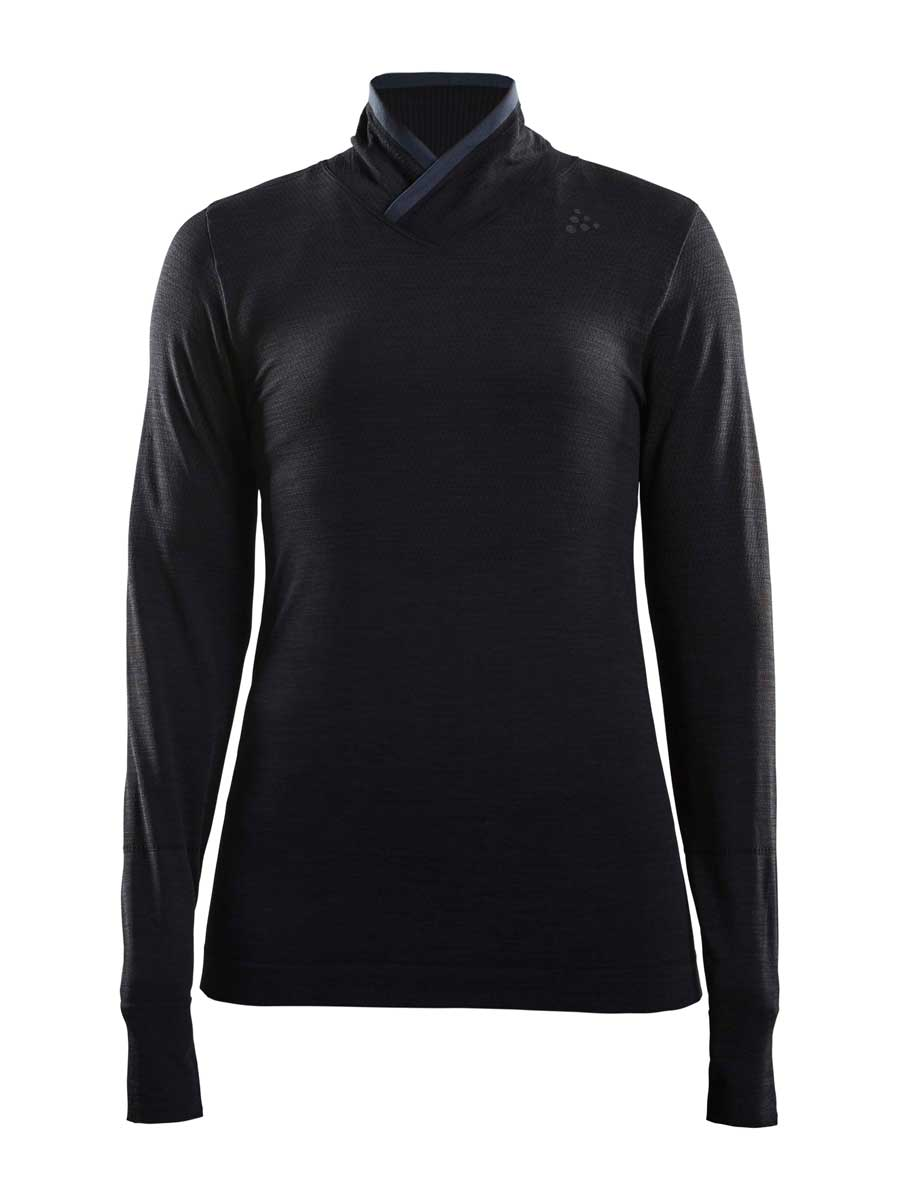 craft women's fuseknit comfort wrap in black