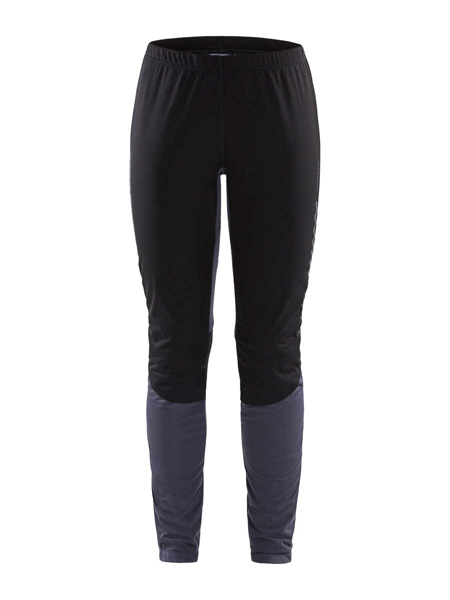 craft women's storm balance tights in asphalt and black