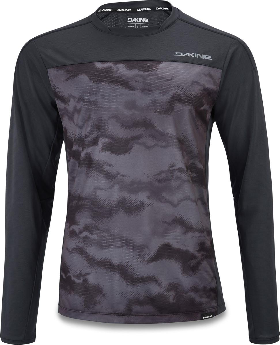 Dakine men's Syncline Jersey in Black and Dark Ashcroft