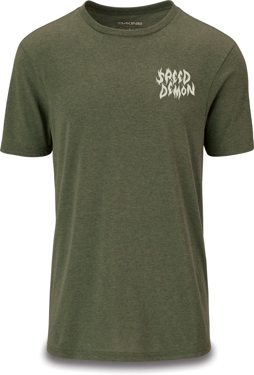 Dakine men's Speed Demon Tech T in Dark Olive Heather