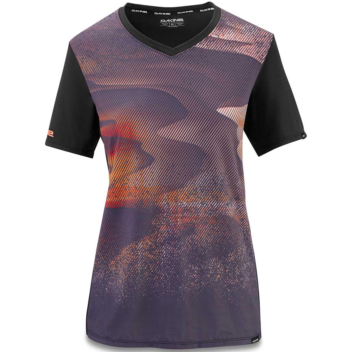 Dakine women's Cadence SS Bike Jersey in Electric Dune