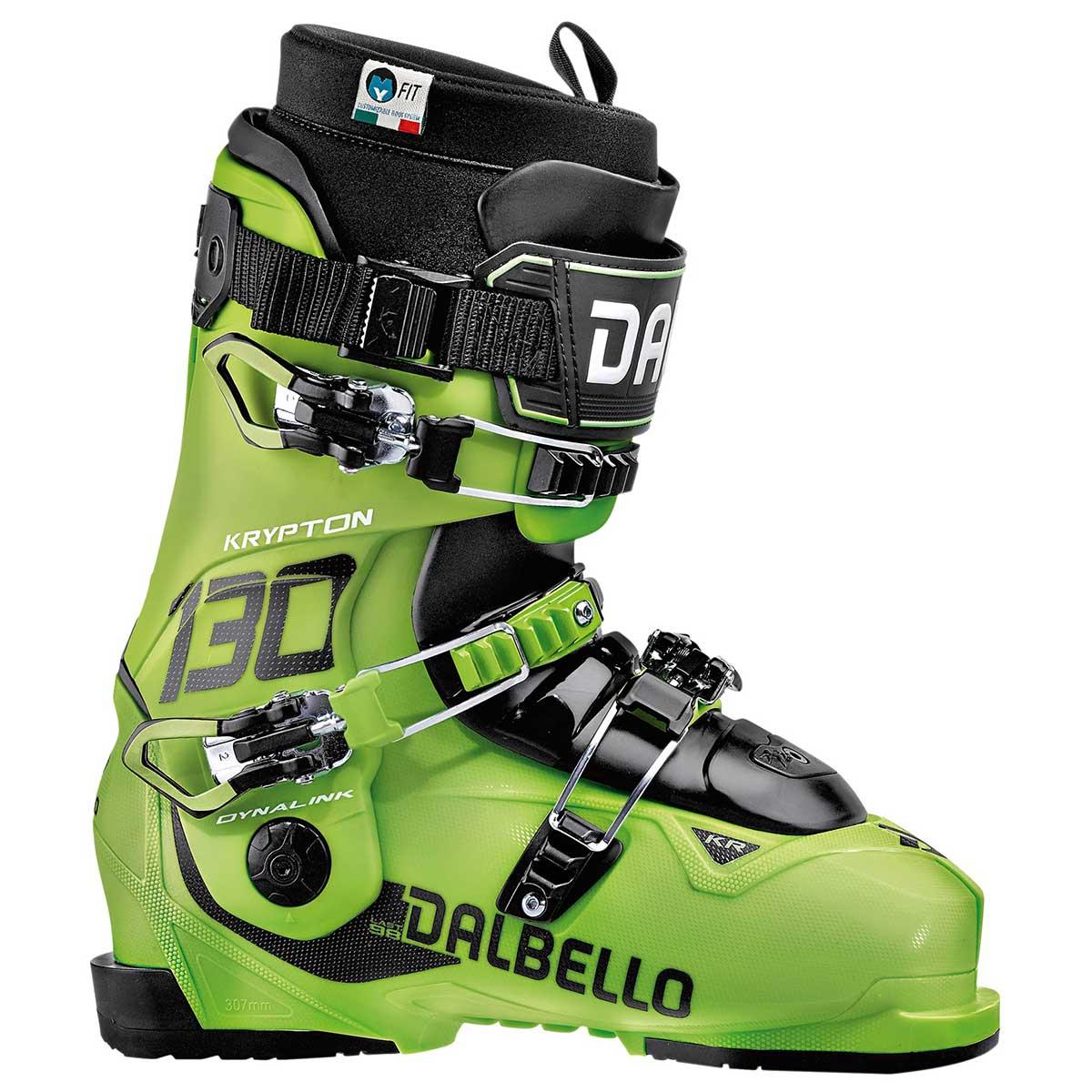 Dalbello men's Krypton 130 ID ski boot in lime and lime