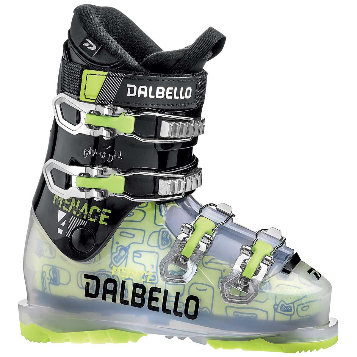 Dalbello Menace 4 junior ski boot in trans black