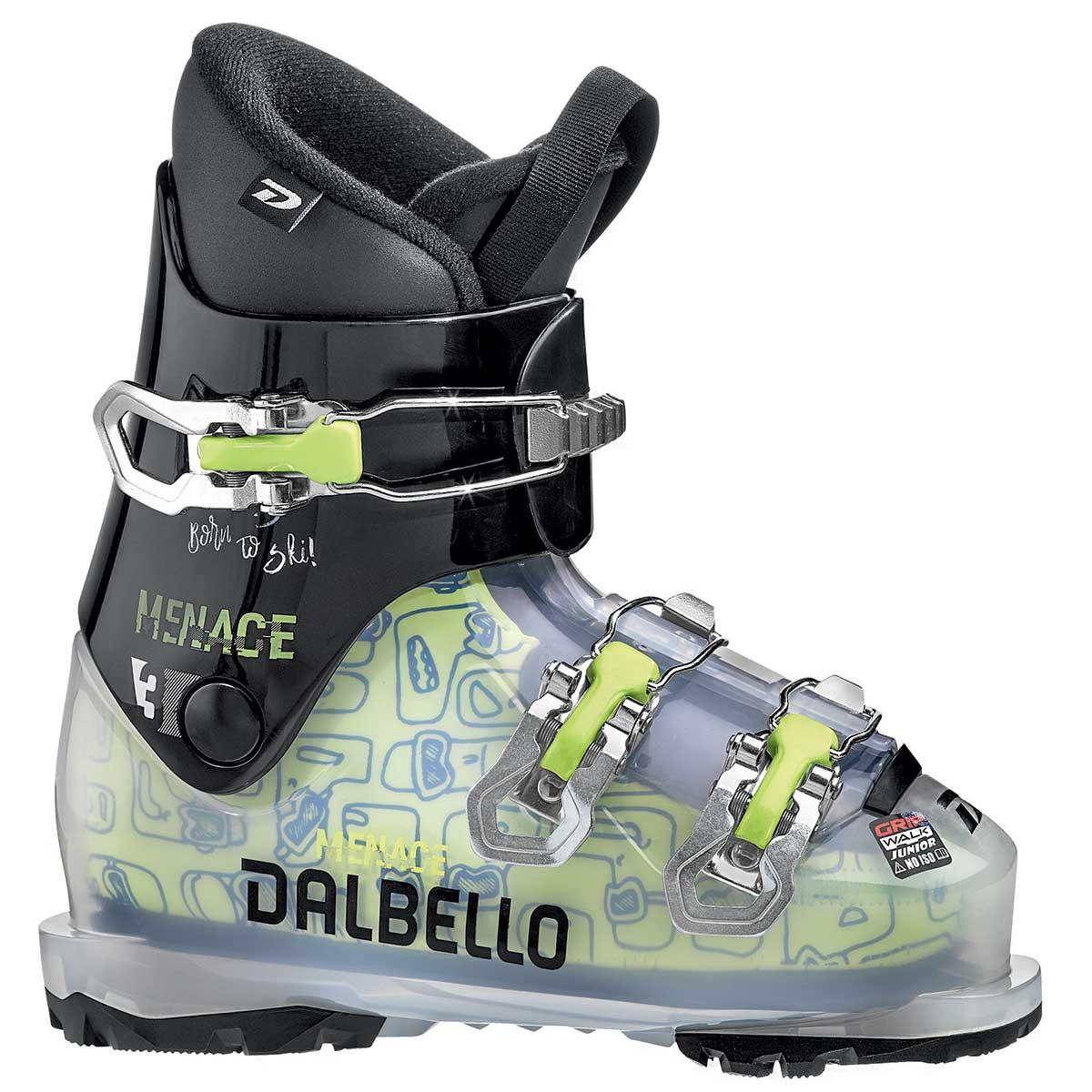 Dalbello Menace 3 junior ski boot in trans black
