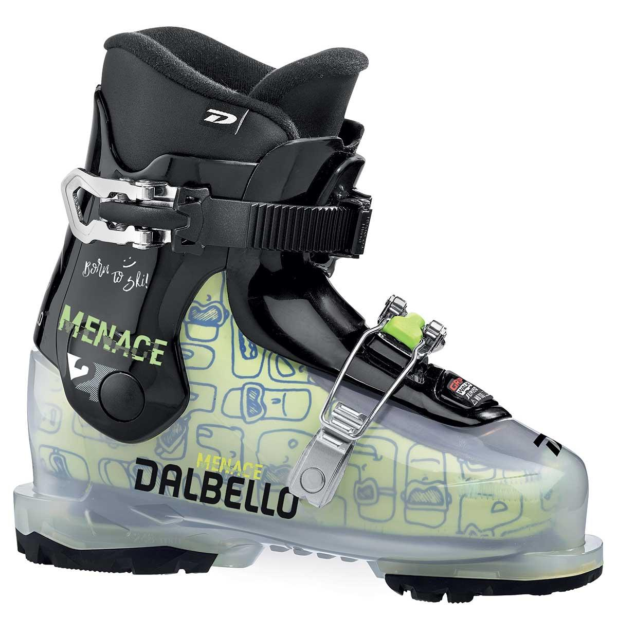 Dalbello Menace 2 junior ski boot in trans black