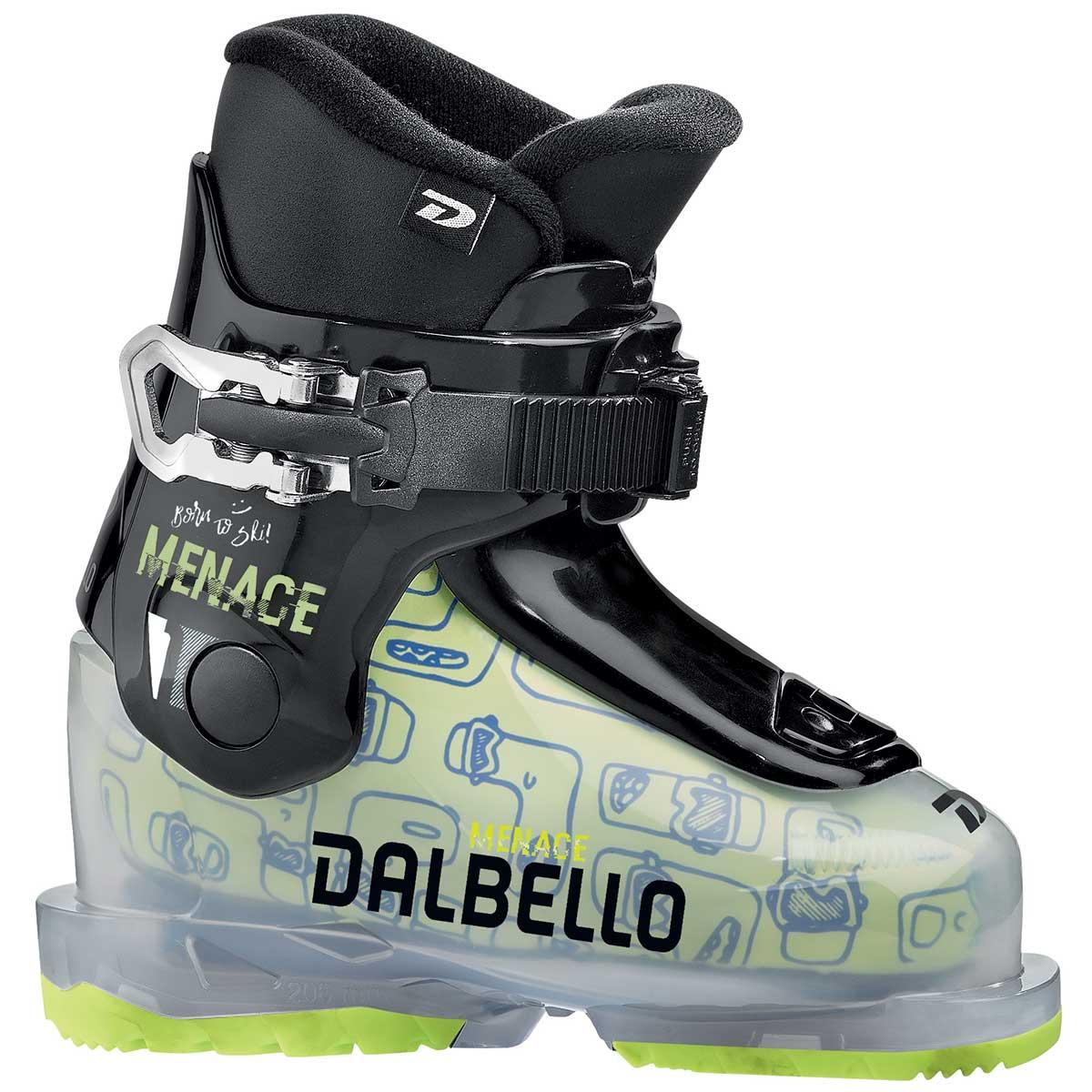 Dalbello Menace 1 junior ski boot in trans black