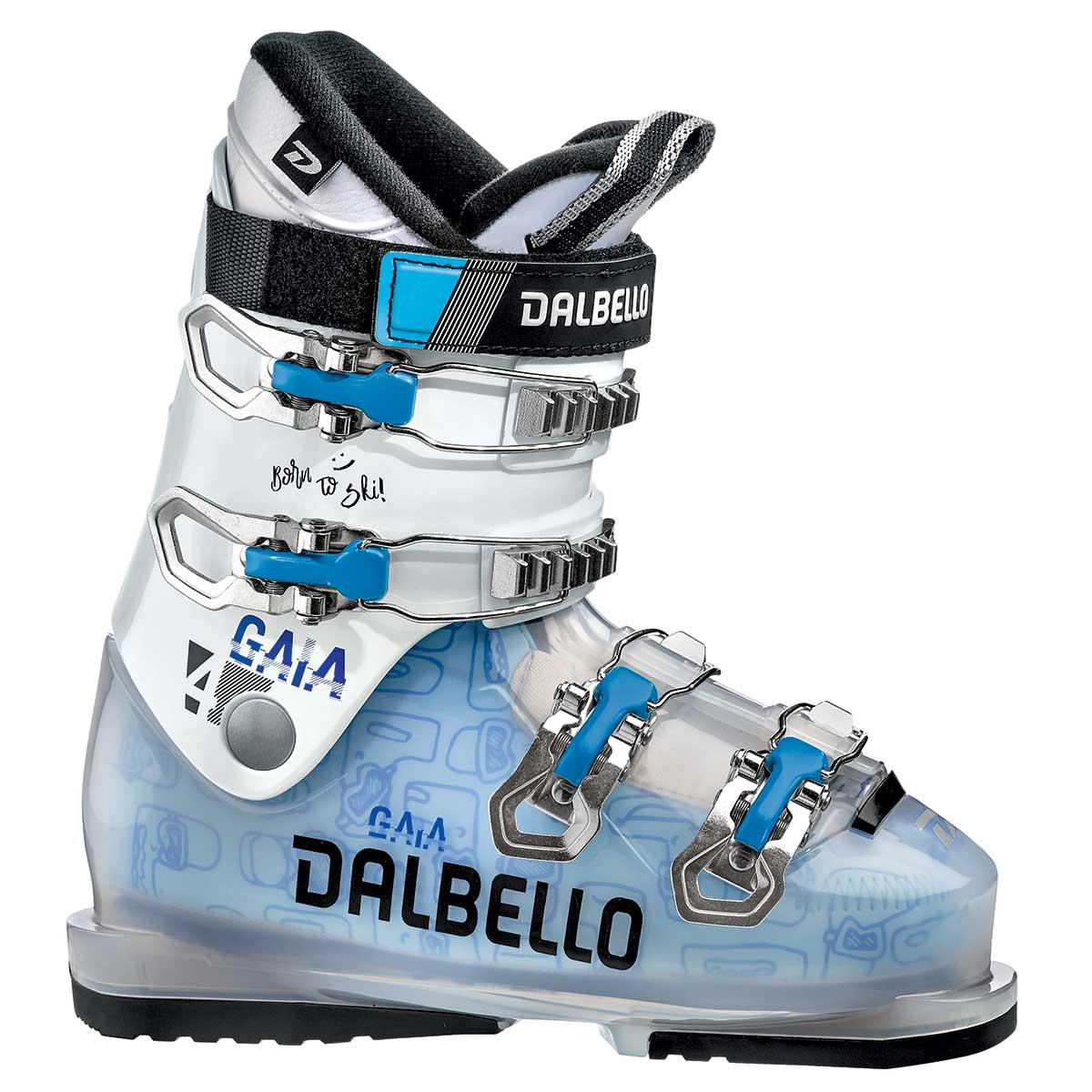 Dalbello Gaia 4 junior ski boot in trans white