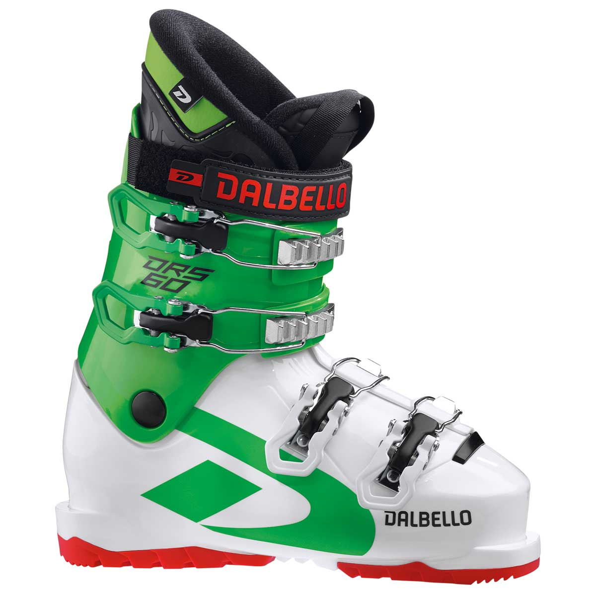 Dalbello DRS 60 Jr Kids' Ski Boot in White and Race Green