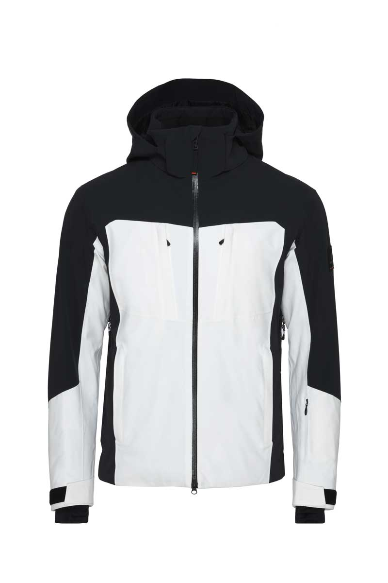 Bogner Fire+Ice Men's Carter T Jacket in White and black