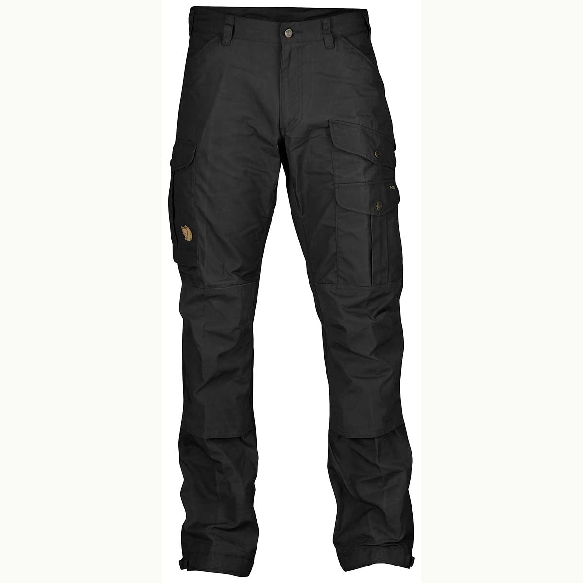 Fjallraven men's Vidda Pro Trousers in Black and Black front view