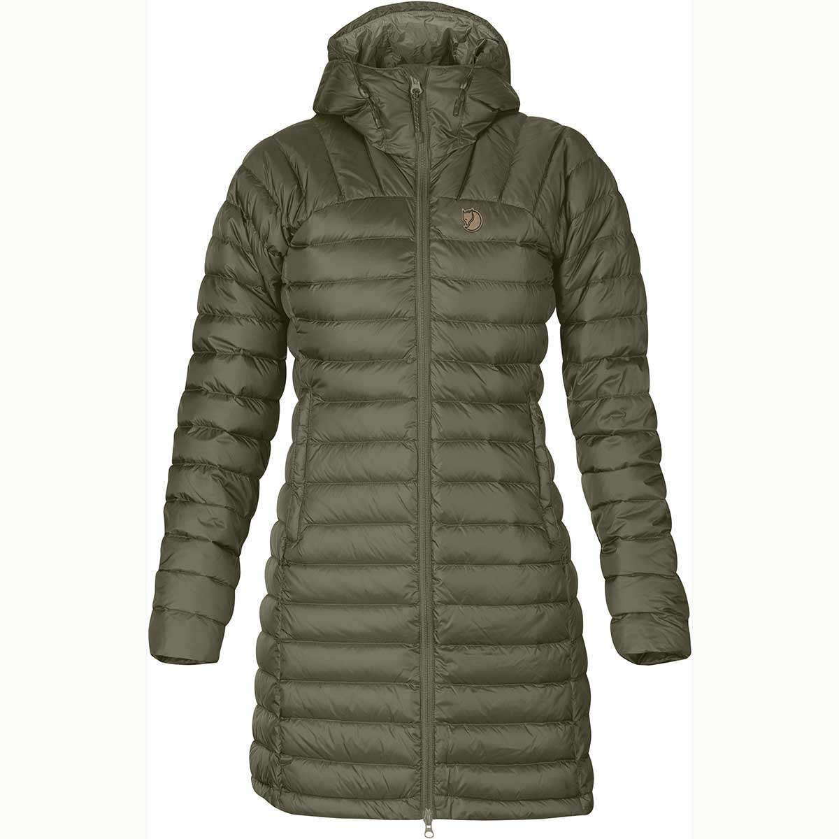 Fjallraven women's Snowflake Parka in Laurel Green front view