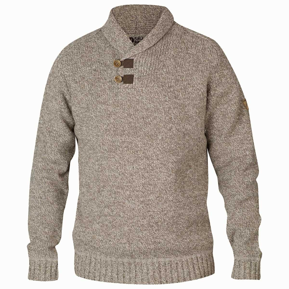 Fjallraven men's Lada Sweater in Fog front view