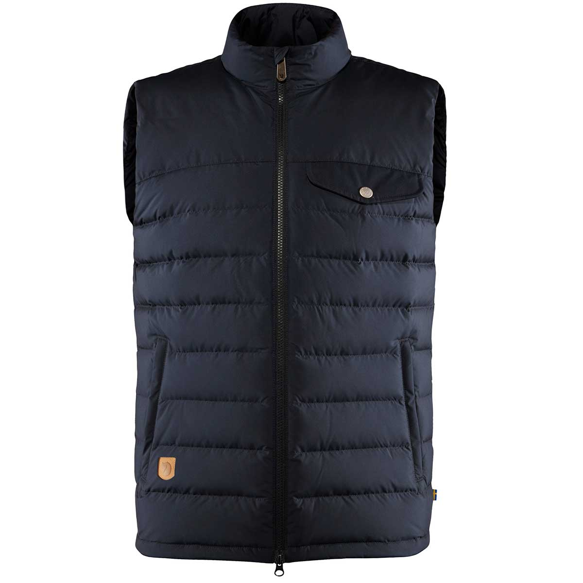 Fjallraven men's Greenland Down Liner Vest in Night Sky front view
