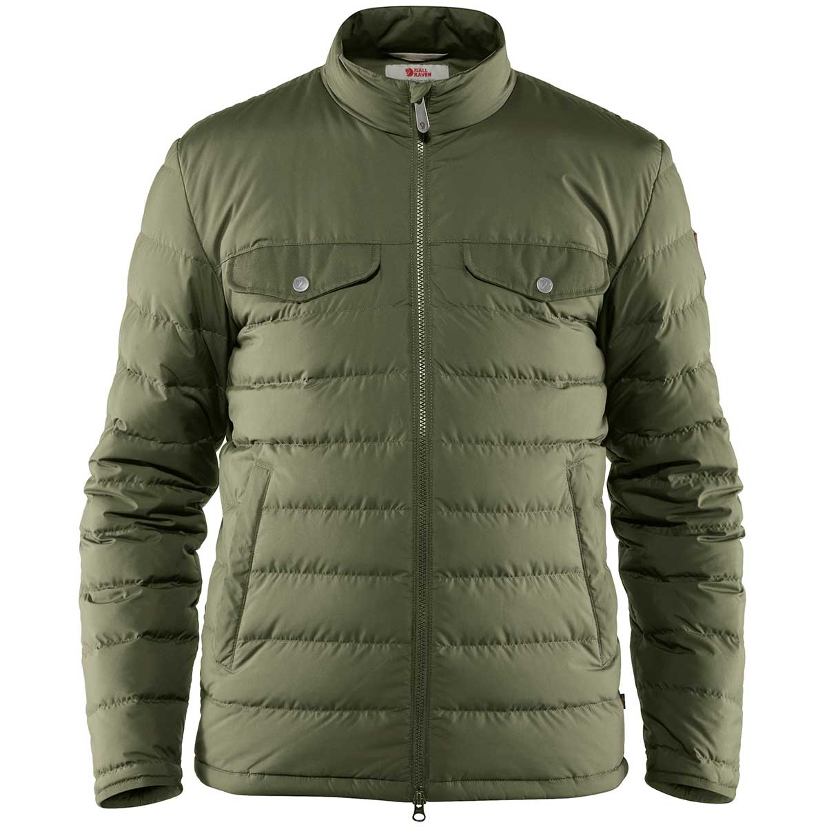 Fjallraven men's Greenland Down Liner Jacket in Green front view