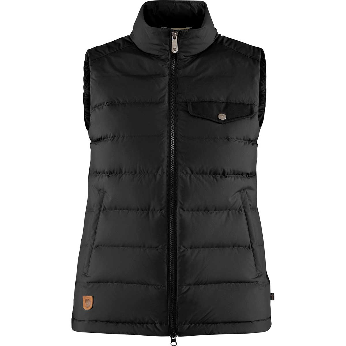 Fjallraven women's Greenland Down Liner Vest in Black front view