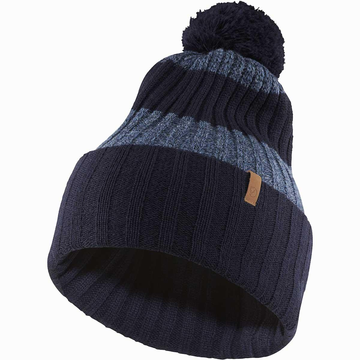 Fjallraven Byron Solid Pom Hat in Dark Navy main view