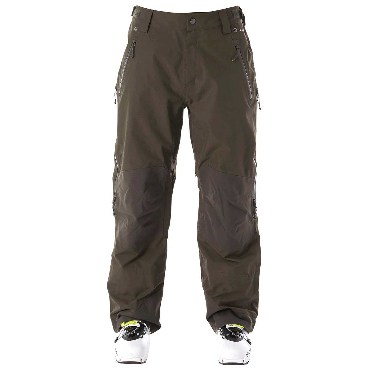 Flylow men's Chemical Pant in Kombu front view