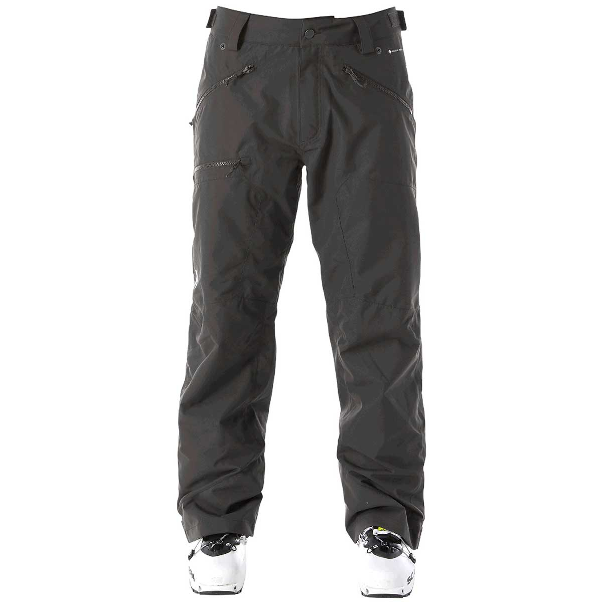 Flylow men's Cage Pant in Black front view
