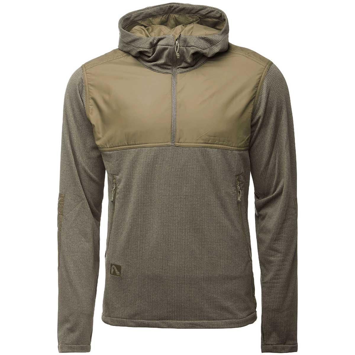 Flylow men's Holliday Hoody in Kombu and Kelp front view