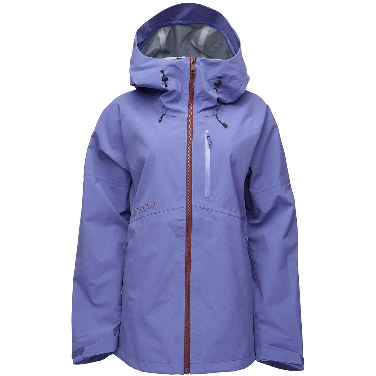 Flylow women's Puma Jacket in Lupine front view