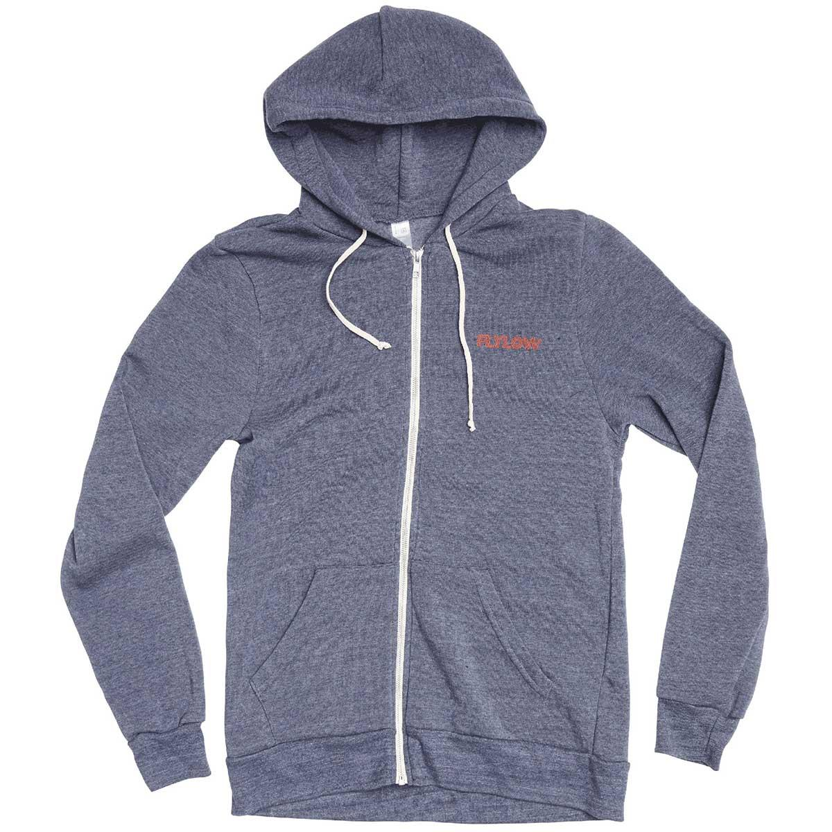 Flylow men's Amigos Hoody in Midnight Heather front view