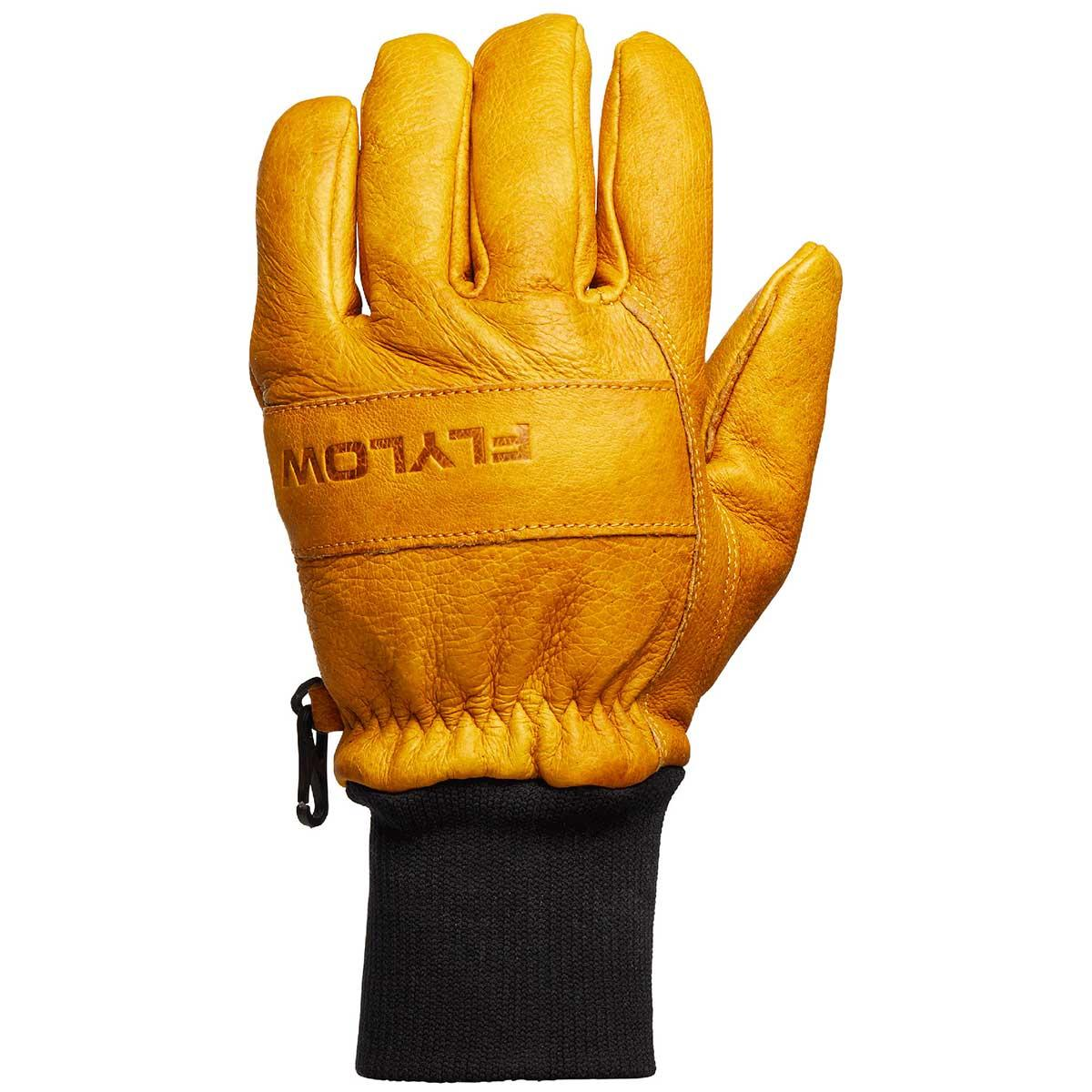 Flylow Ridge Glove in Natural back of hand view