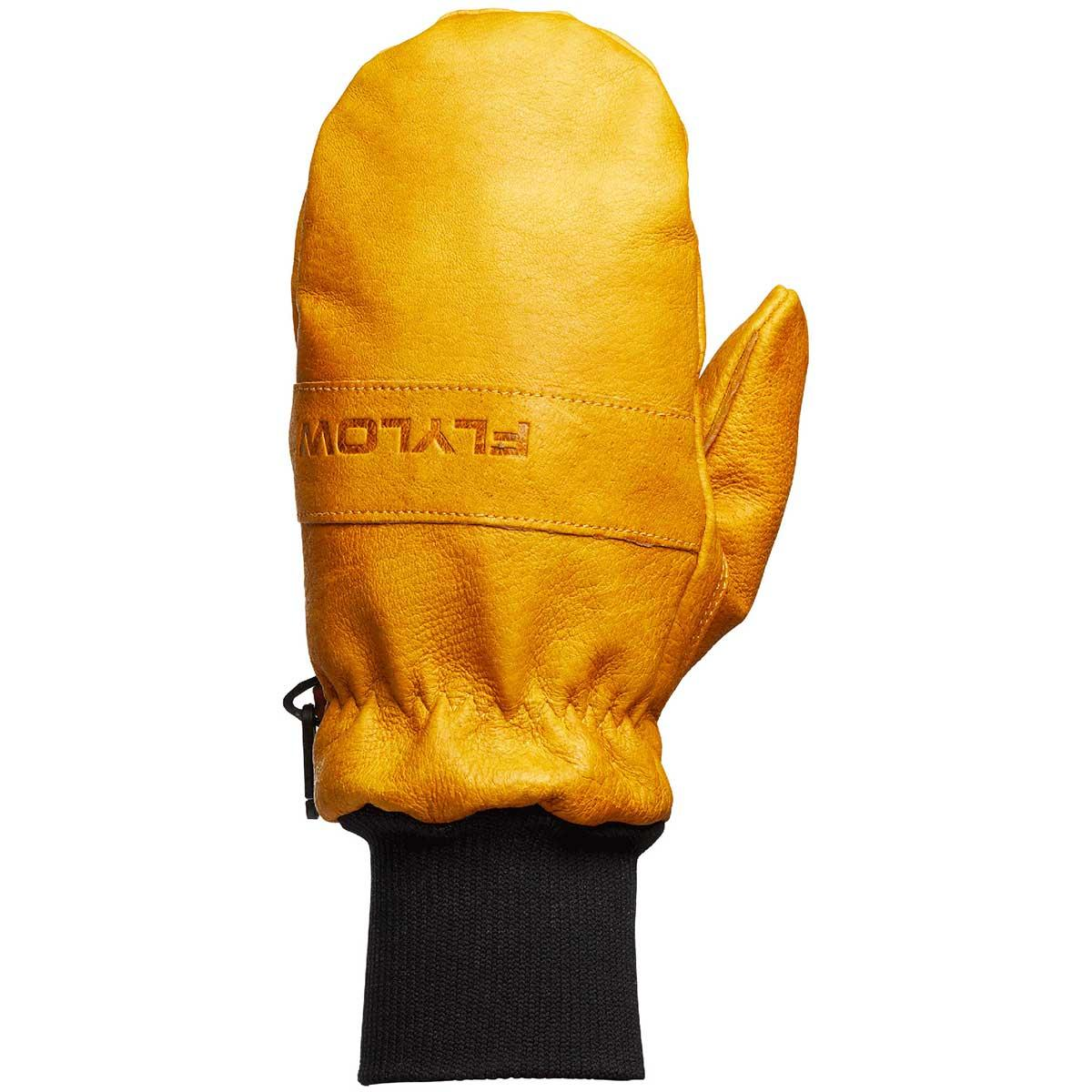 Flylow Oven Mitt in Natural back of hand view