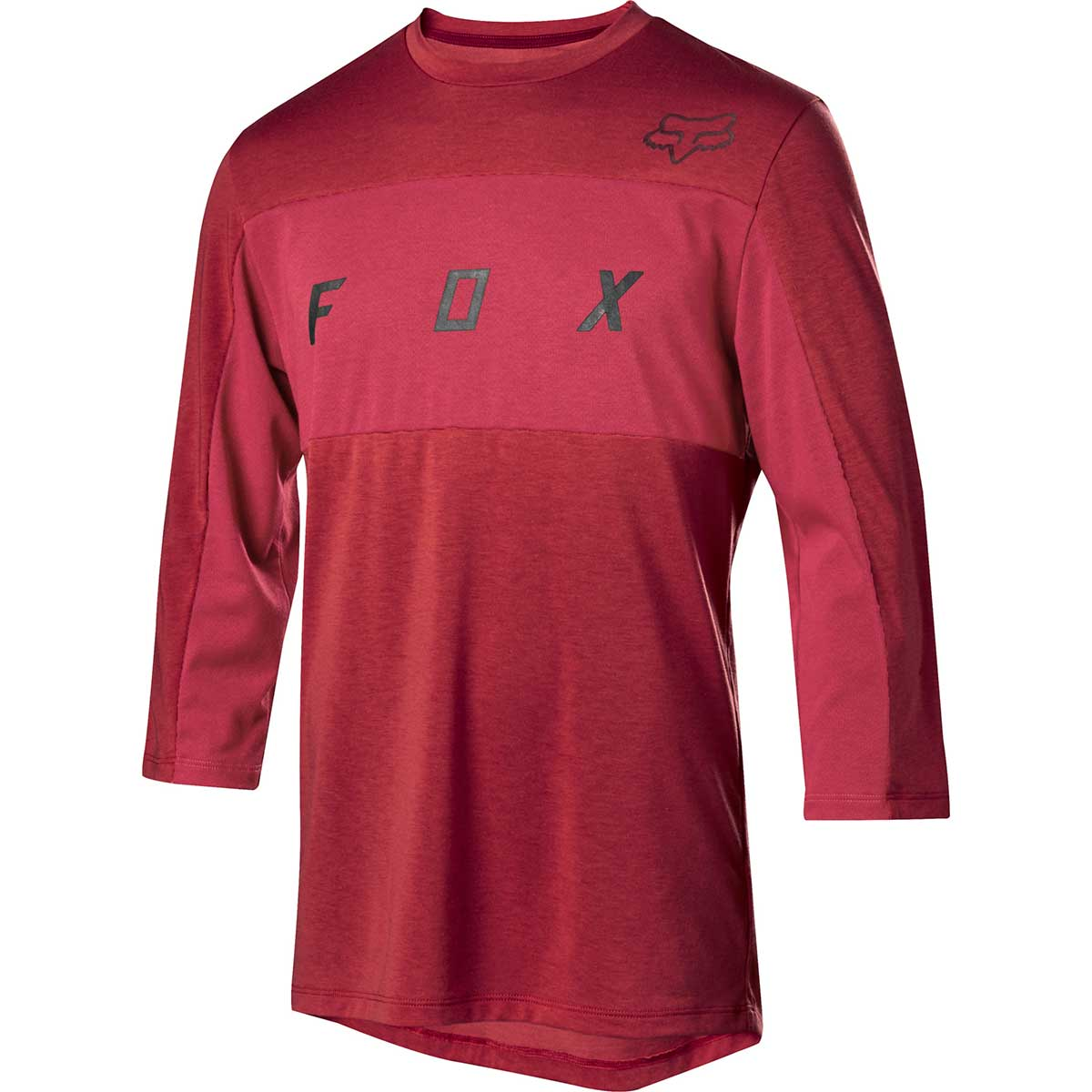 Fox men's Ranger drirelease 3/4 bike jersey in Cardinal