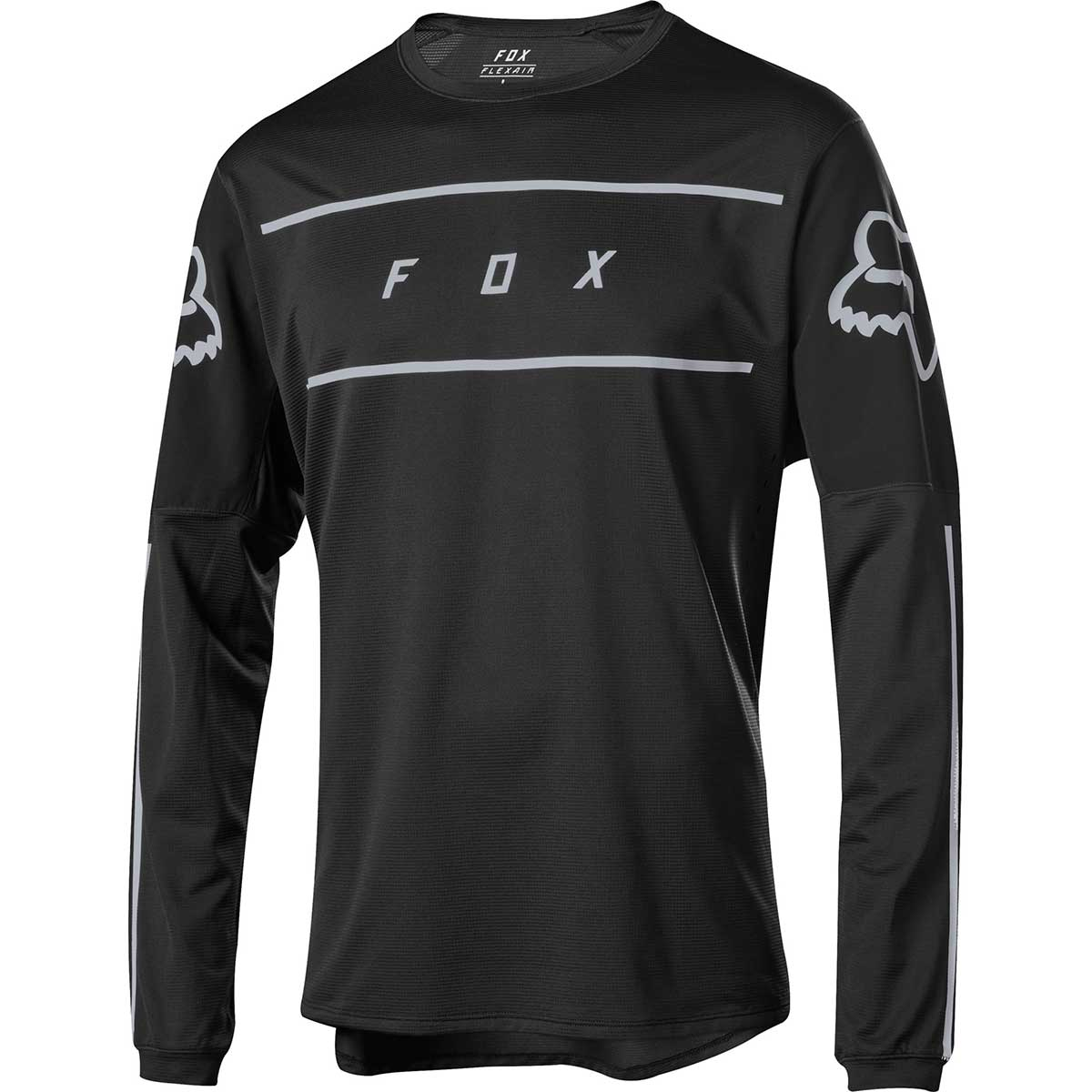 Fox men's Flexair Fine Line bike jersey in Black