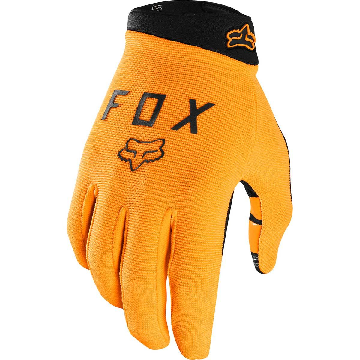 Fox kids' Youth Ranger bike glove in Atomic Orange