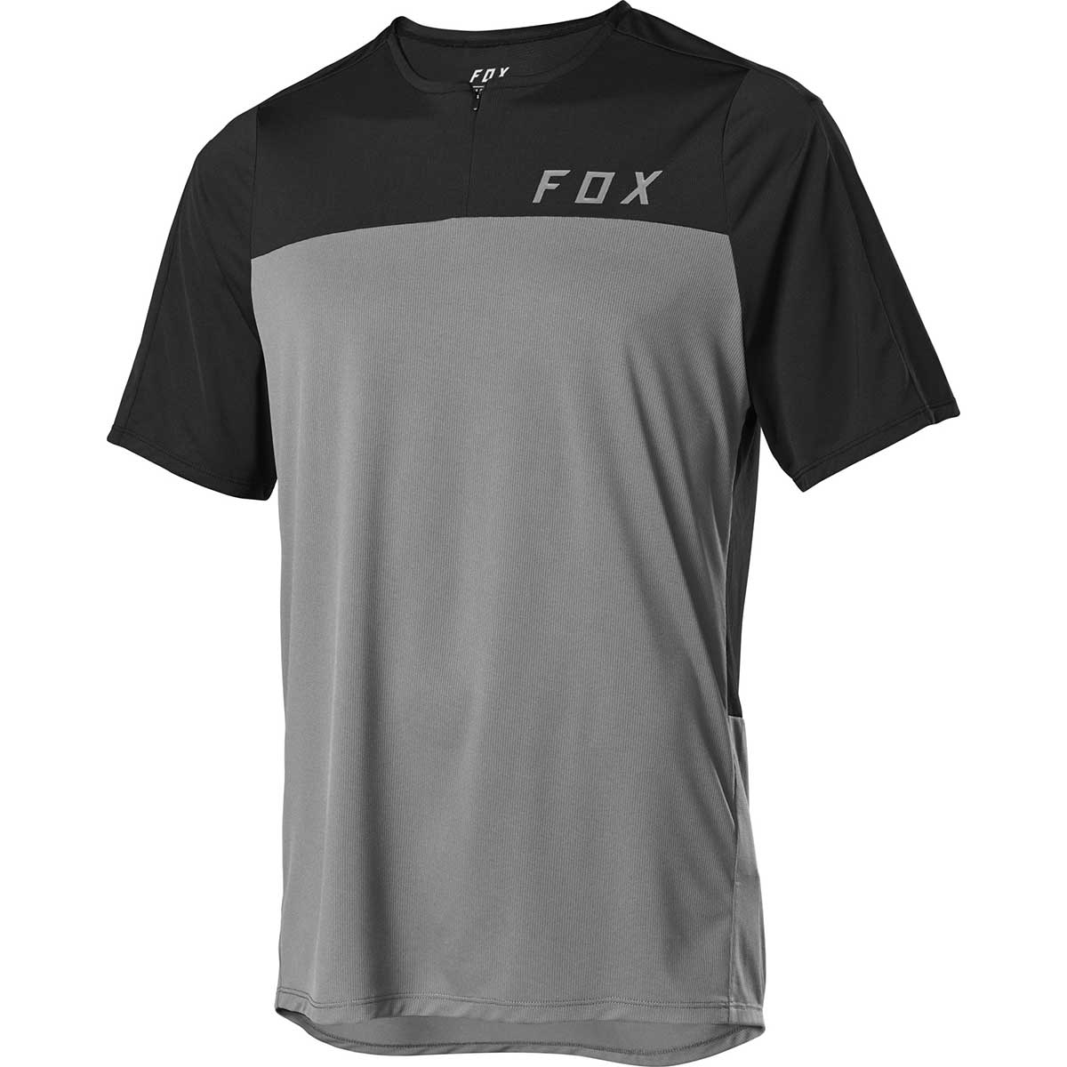 Fox men's Flexair Zip Jersey in Pewter