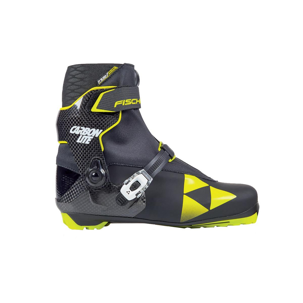 Fischer Men's RCS Carbonlite Skating Boot in Black and Yellow
