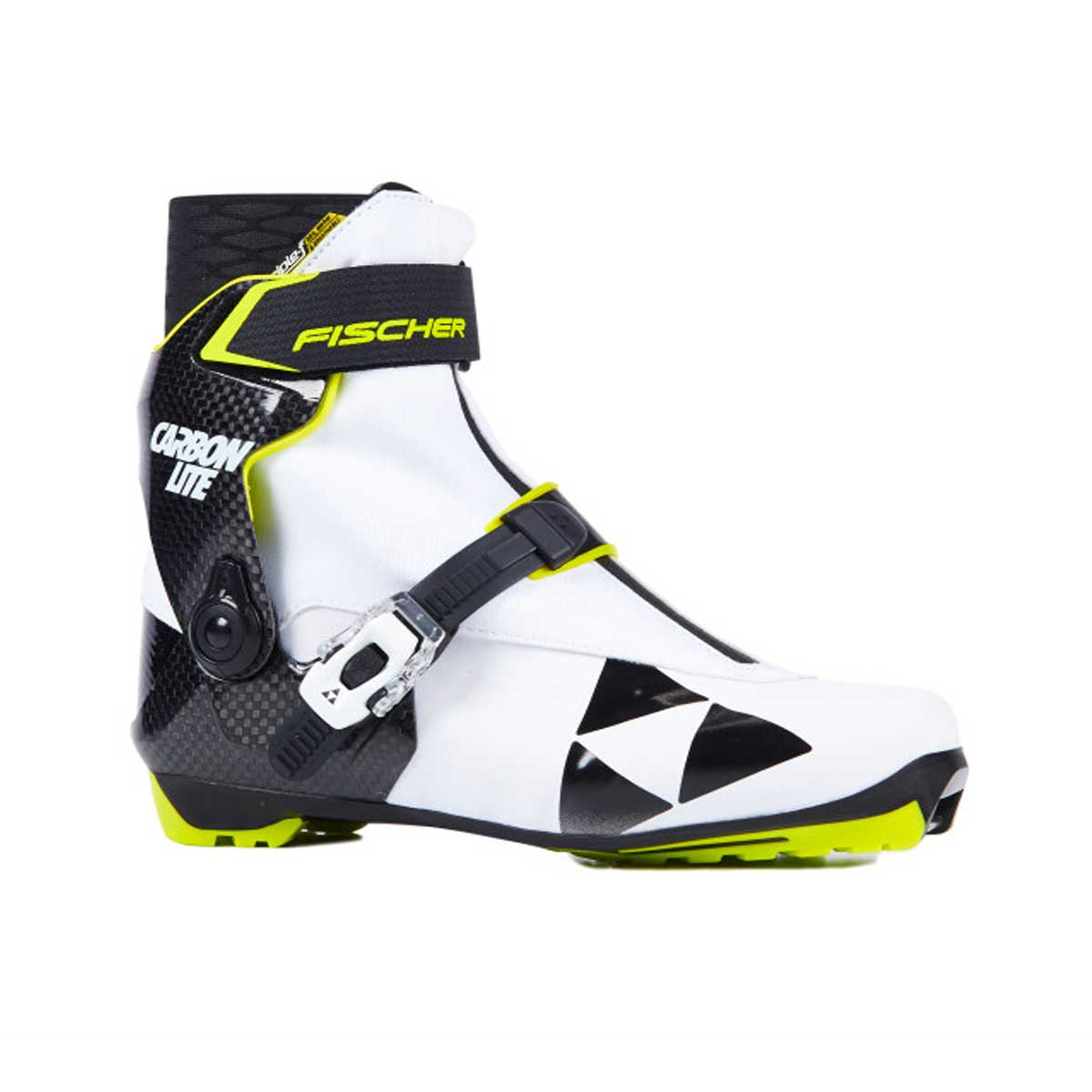Fischer Women's RCS Carbonlite Skating Boot in White and Black