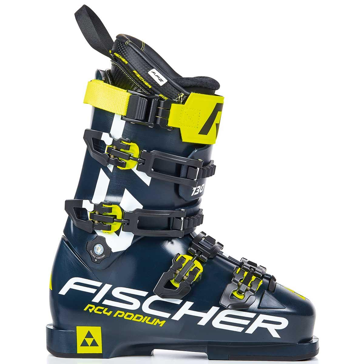 Fischer Men's RC4 Podium GT 130 ski boot in black and green