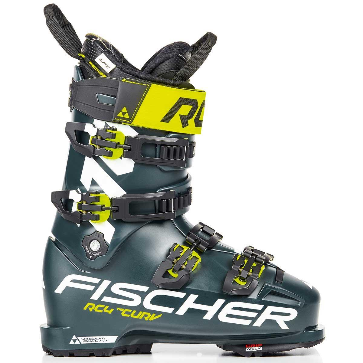 Fischer Men's RC4 Curv 110 Vacuum Full Tilt Boot in Black and Green