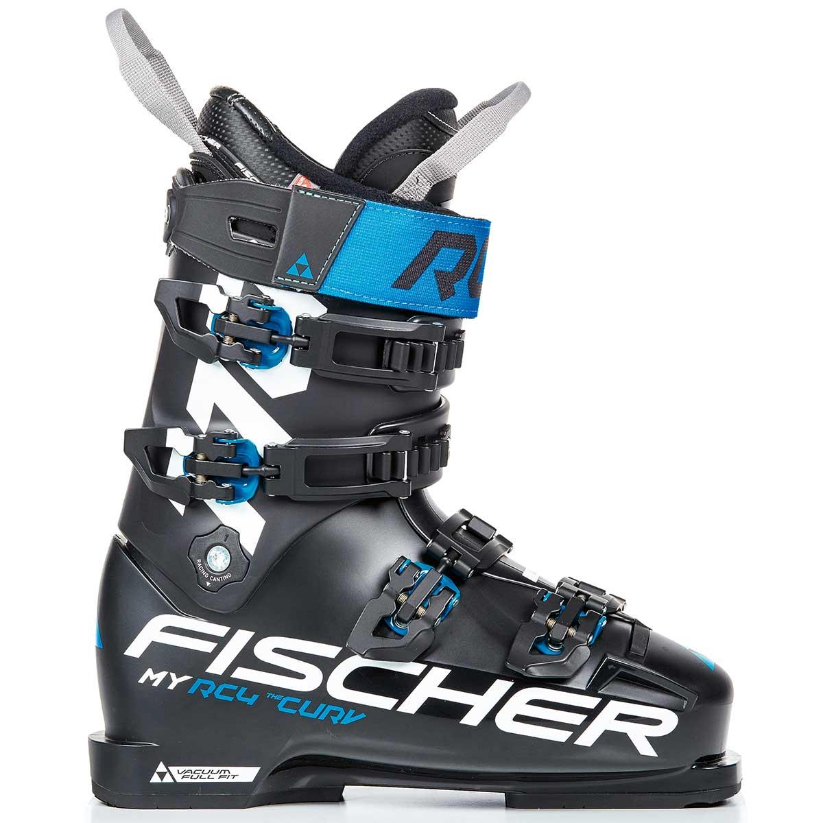 Fischer Women's My Curv 110 Vacuum Full Fit boot in black and blue