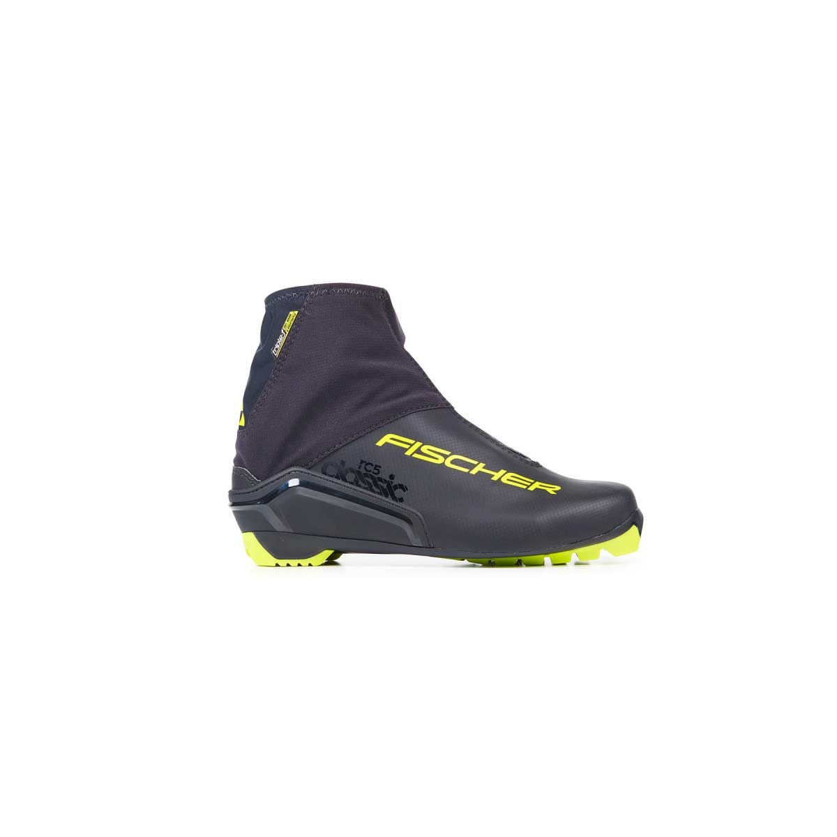Fischer RC 5 Classic Boot in Black and Yellow