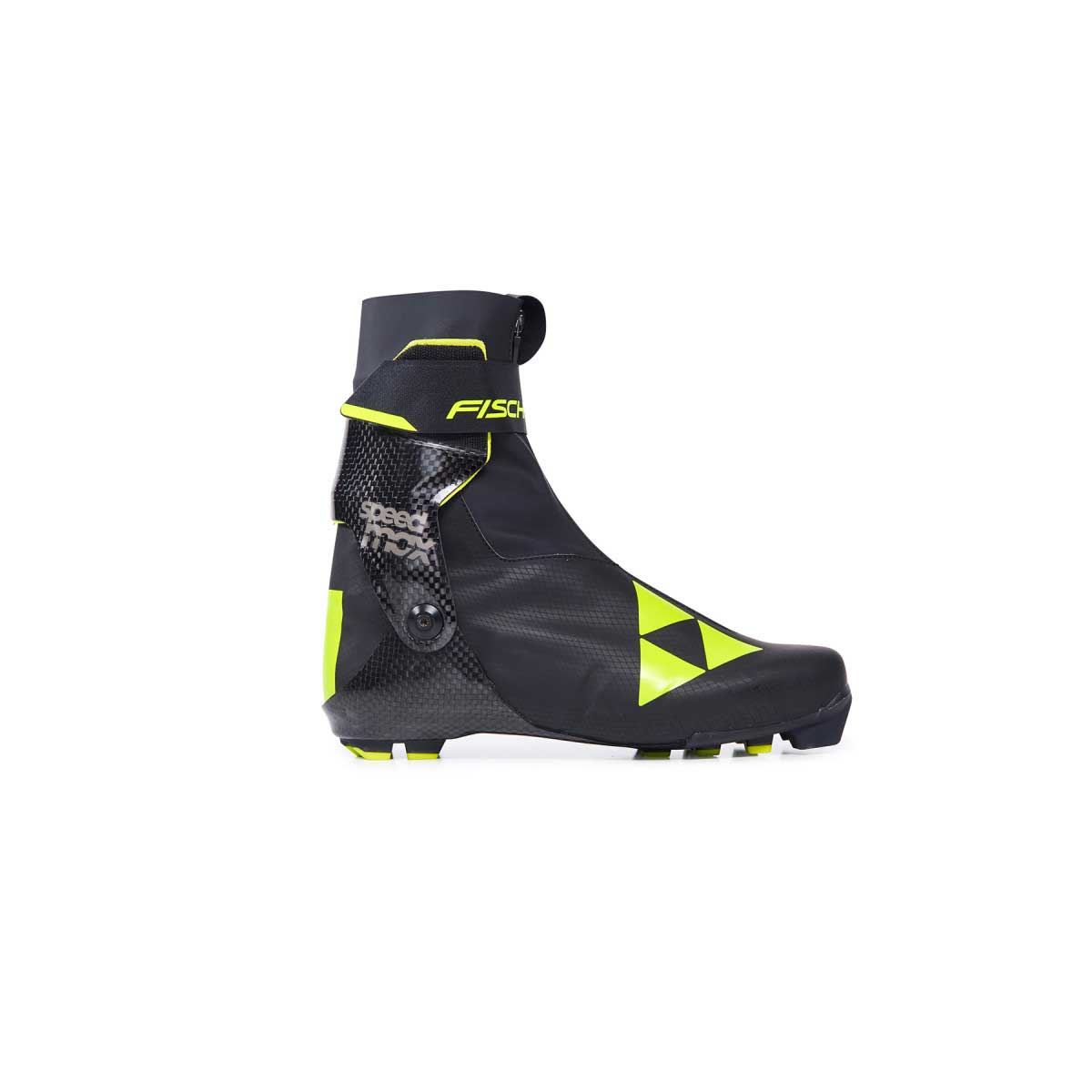 Fischer Speedmax Skate Boot in Black and Yellow