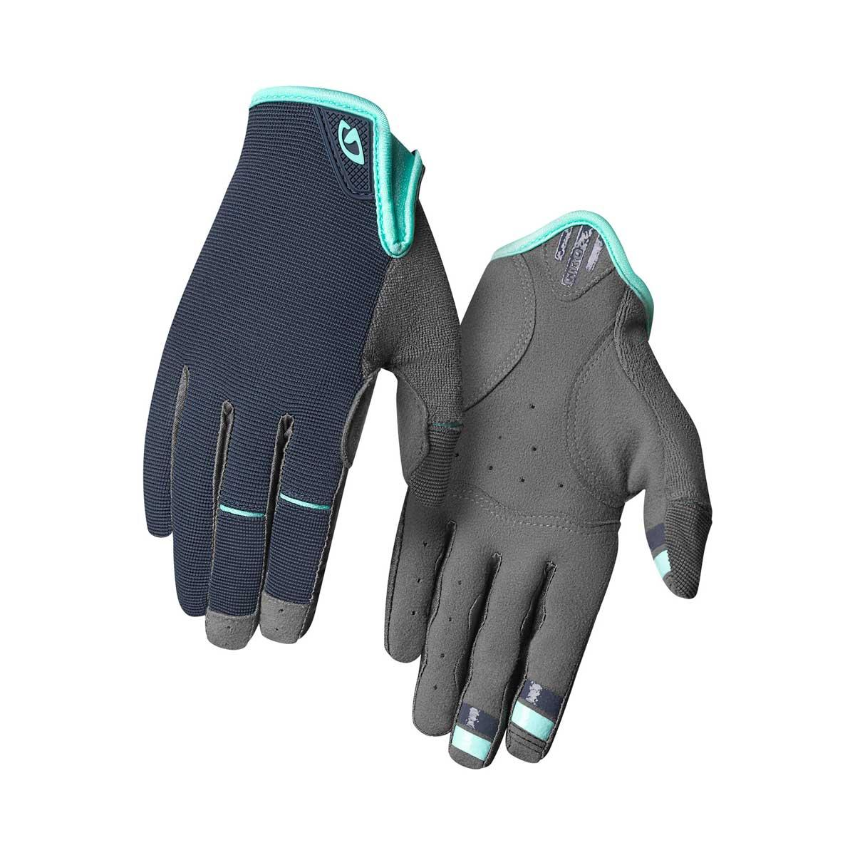 Giro women's La DND Glove in Midnight Blue and Cool Breeze main view