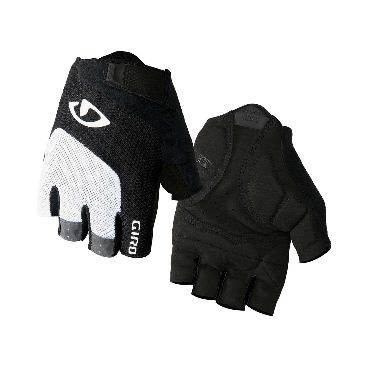 Giro Bravo Gel Gloves in White and Black